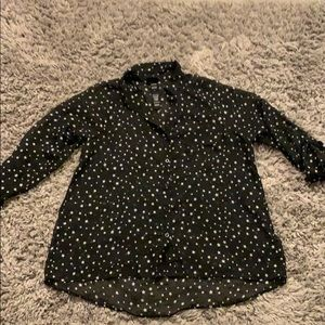 Torrid sheer blouse with star print size 0